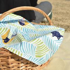 Furoshiki cloth wrapping a picnic basket