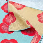 Furoshiki Dinner Napkin Set(4pcs)/ Stoffservietten Set - Reversible - Plum in Sky Blue and Royal Beige