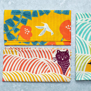 Furoshiki Cat, Bird and Hummingbird