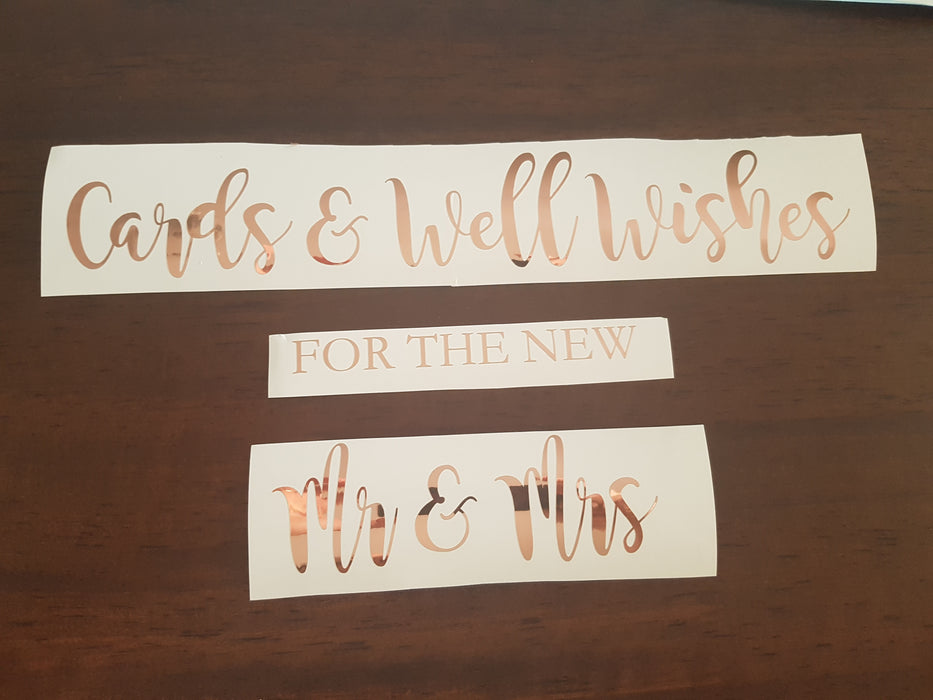 Decal Only: Cards & Well Wishes for the New ...