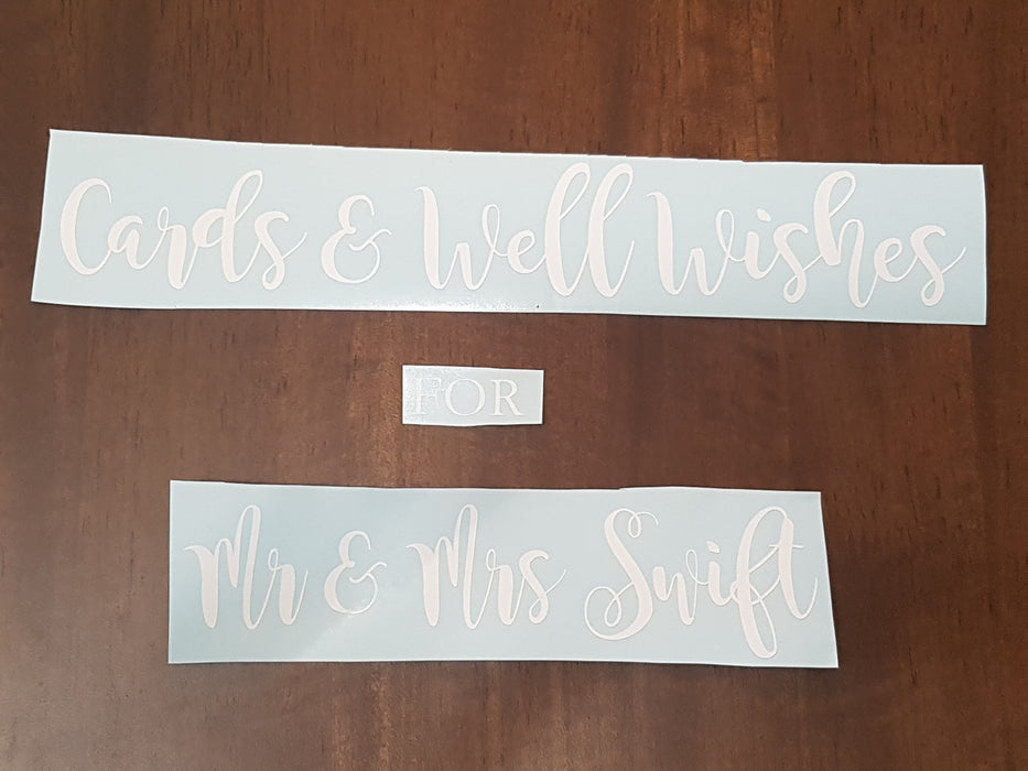 Decal Only: Cards & Well Wishes for the New