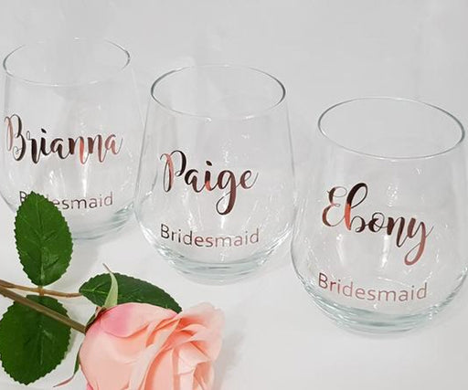 Stemless Red Wine Glass Personalised