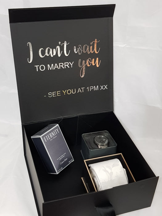 Groom Box I Can't Wait to Marry You