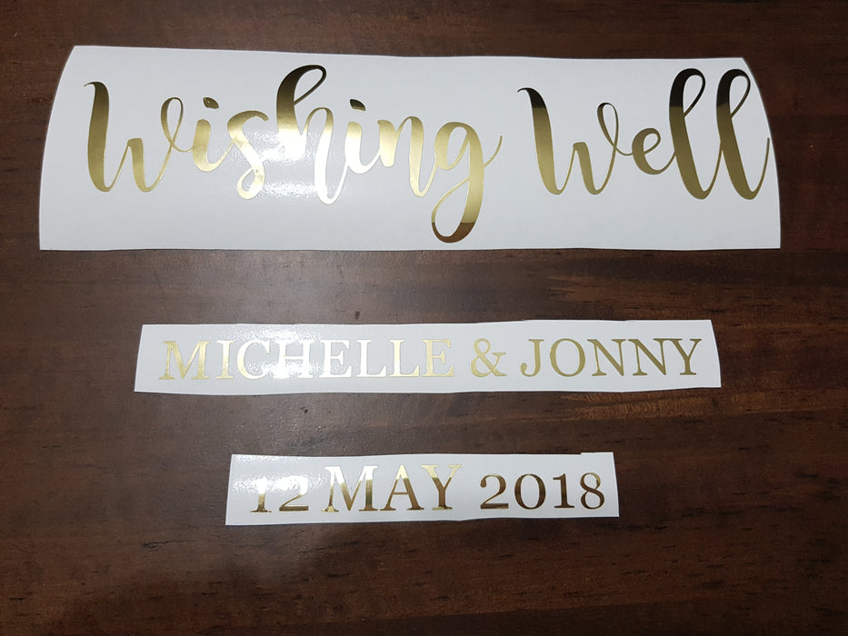 Decal Only: Wishing Well Personalised