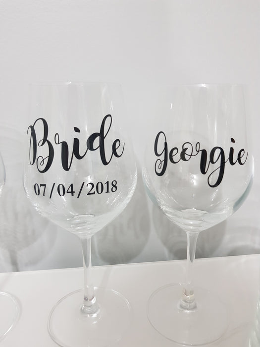 White Wine Glass Personalised