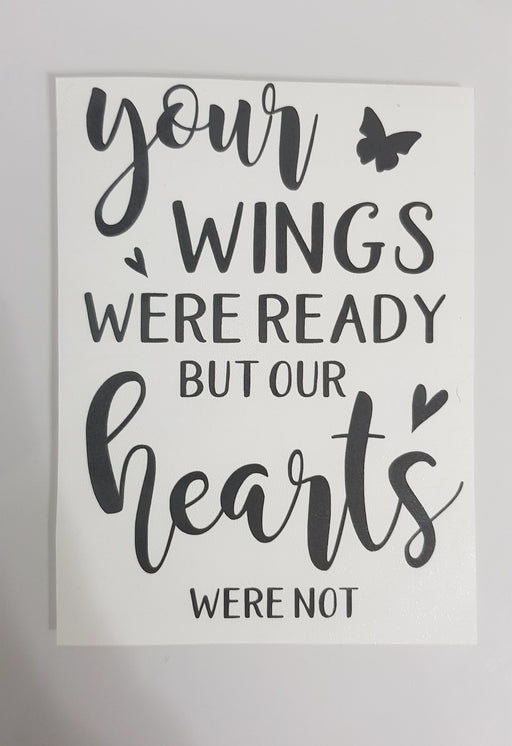 Decal Only: Your Wings were ready