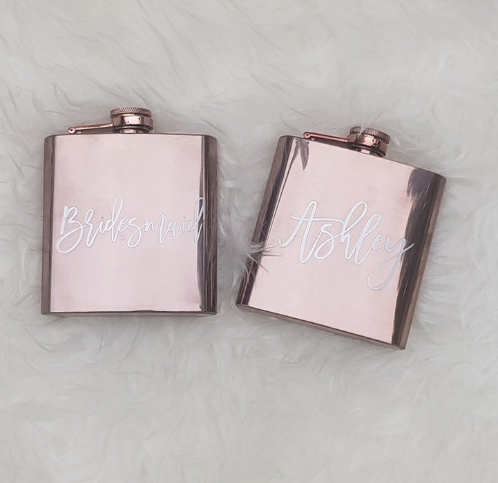 Rose Gold Hip Flask