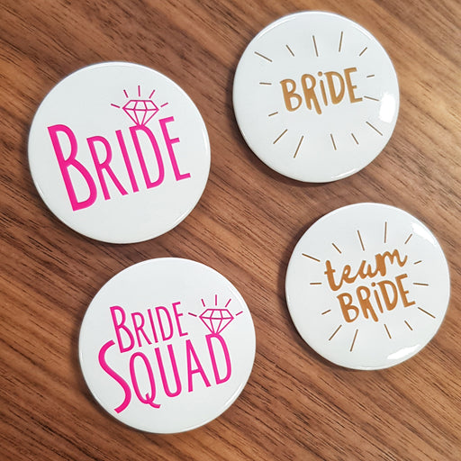 Bride Tribe Badge Pins