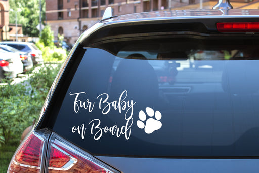 Car Decal Fur Baby on Board