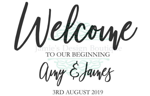 Welcome Sign Decal