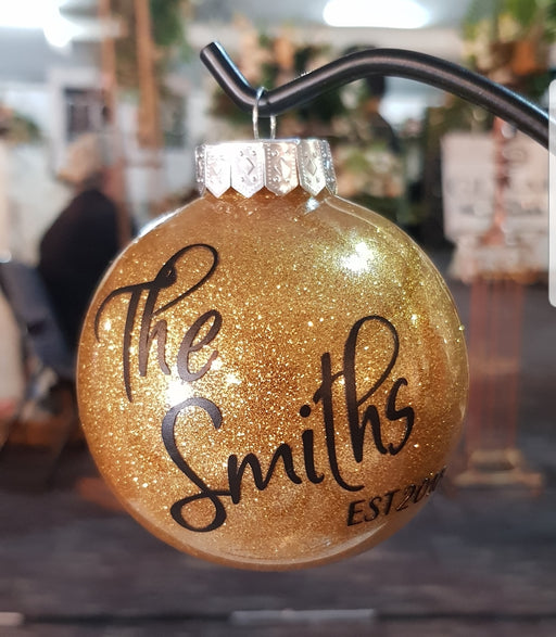 Christmas Bauble - The 'name' EST