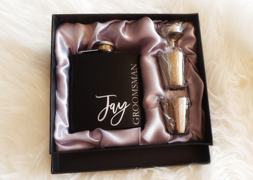Flask Gift Set - damaged Box