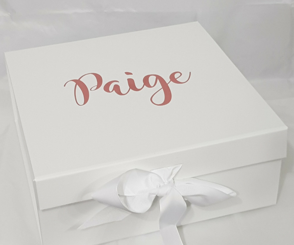 Personalised Black Gift Box