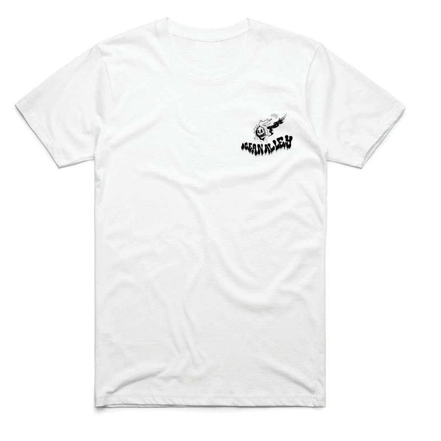 Surfing Reaper White T-Shirt