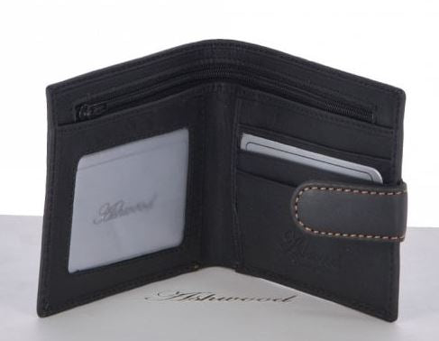 Ashwood Leather - Black/Grey Leather Classic Wallet
