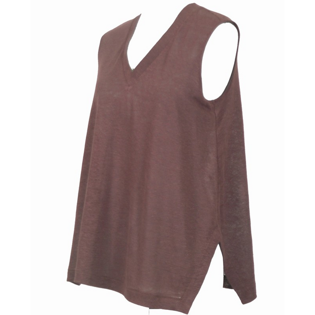 Maria Bellentani - Loose Fit V Neck Sleeveless Top
