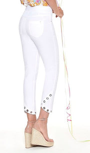 Robell – Rose 09 - Cropped Trousers with Eyelet Decoration (4 Colours)