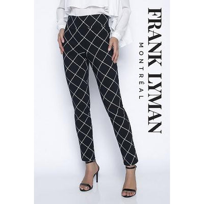 Frank Lyman - Black & White Straight Leg Stretch Trousers