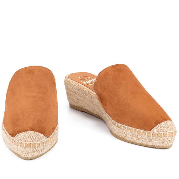 Kanna - K2124-Low Wedge Backless Slipper Style Espadrille (3 colours)