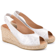 Kanna - K2157-Medium Wedge Leather Peep Toe Sling Back (3 colours)