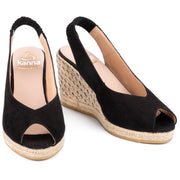 Kanna - K2255-High Wedge Suede Peep Toe Sling Back (4 colours)