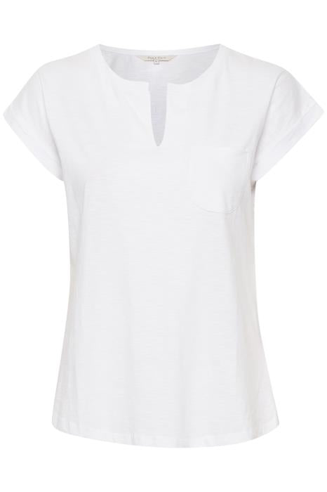 Part Two - Kedita Plain Cotton Round Neck Tee Shirt With Slit (2 colours)