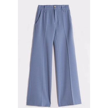 Vilagallo - Uma Blue Crepe Tailored Trouser