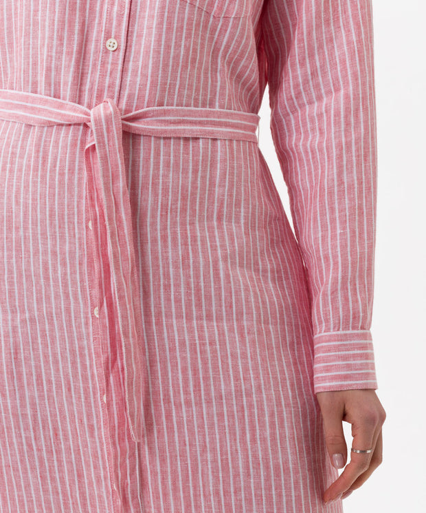 Brax - Gweneth Long Linen Shirt Dress with Tie Belt