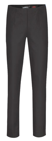 Robell – Marie - Straight Leg Full Length Trousers In Plain Colours