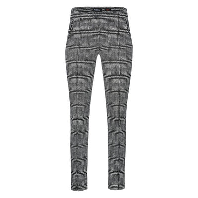 Robell – Holly- Straight Leg Full Length Trousers in Modern Glen Check