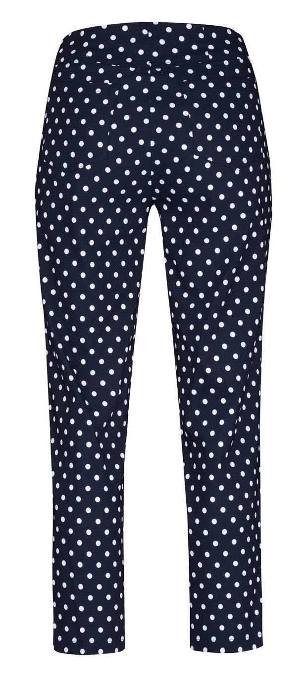 Robell – Bella 09 - Cropped Trouser with Spot Print Design