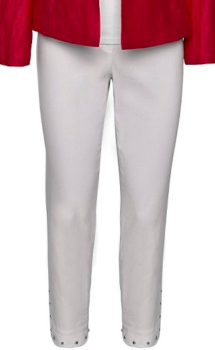Robell – Bella 09 - Cropped Trousers with Studded Hemlime Detail (3 Colours)