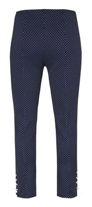 Robell – Rose 09 - Cropped Trousers with a Tiny Triangle Pattern (2 Colours)