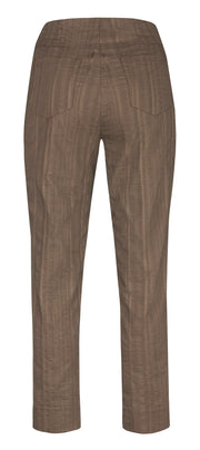 Robell – Bella 09 - Light Weight Cropped Trouser in Striped Seersucker (Various Colours)