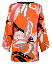 Robell – Sharon Bright Coloured Flower Long Sleeve Tunic Top