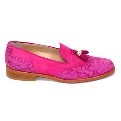 HB - Suede Loafter with Printed Suede on Toe and Heel (2 colours)