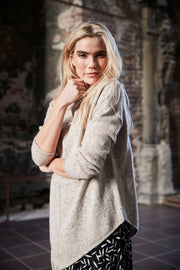 Sunday - Taupe With Black Fleck Chunky Knit Long Sleeve Over Jumper