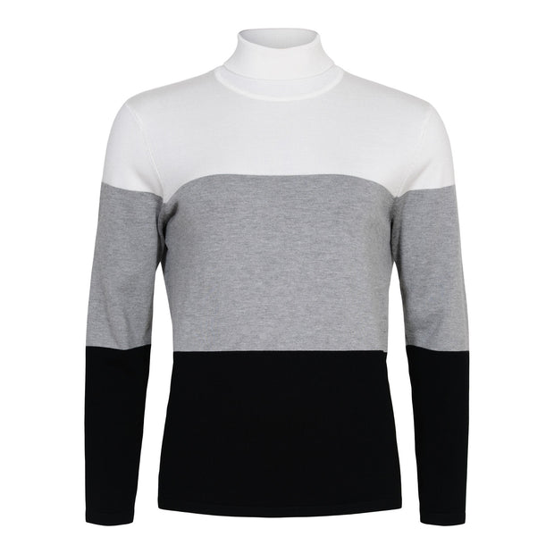 Sunday - Long Sleeve Tripple Coloured Polo Neck Jumper