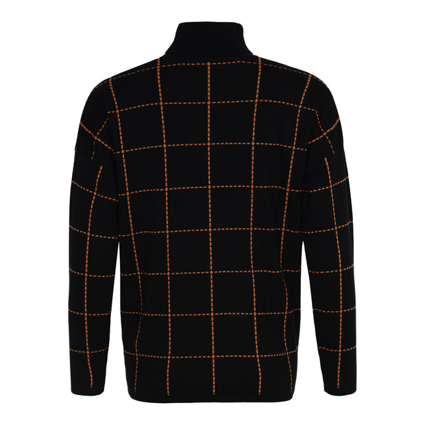 Sunday - Long Sleeve Two Tone Polo Neck Jumper