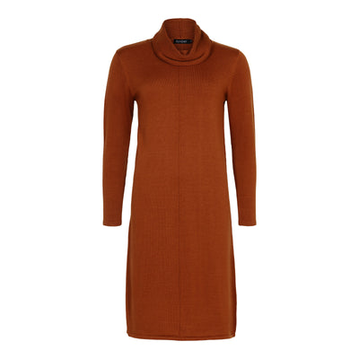 Sunday - Long Sleeve Knitted Dress With Cowl Neckline (2 colours)
