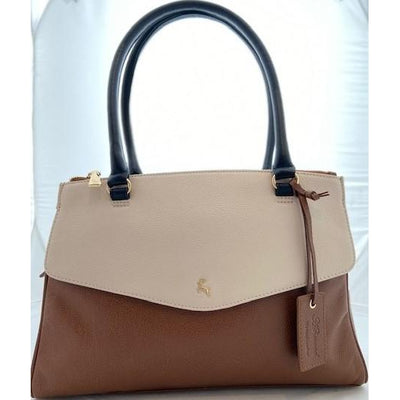Ashwood Two Tone Leather Shoulder Bag  (2 colours)