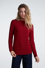 Oui - Fine Knit Long Sleeve Crew Neck Jumper (2 colours)