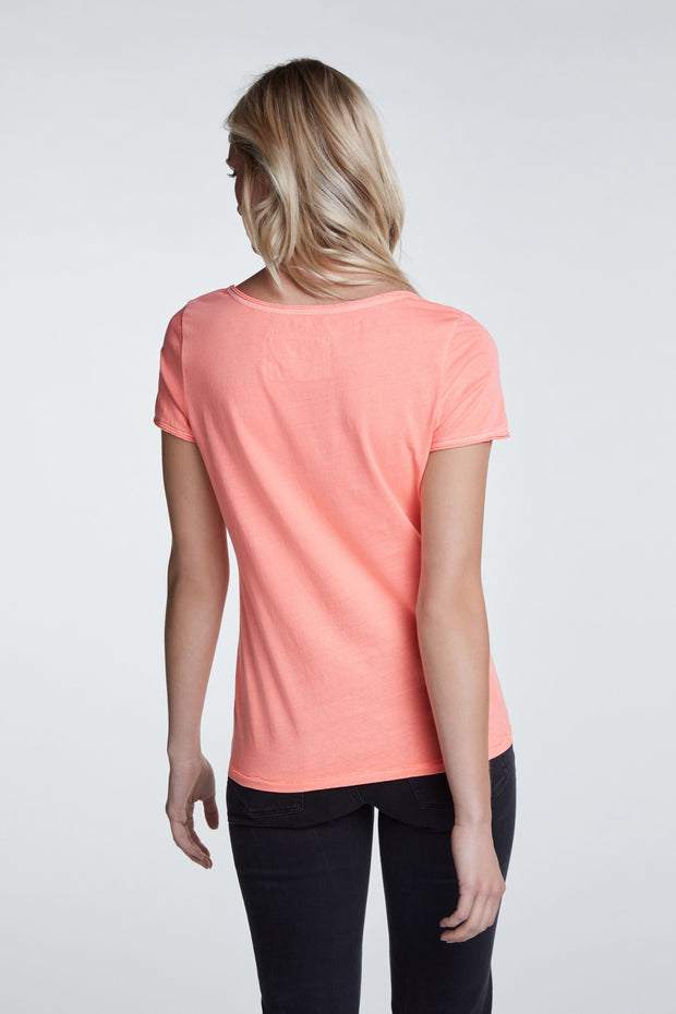Oui -  Short Sleeve Scoop Neck Tee Shirt