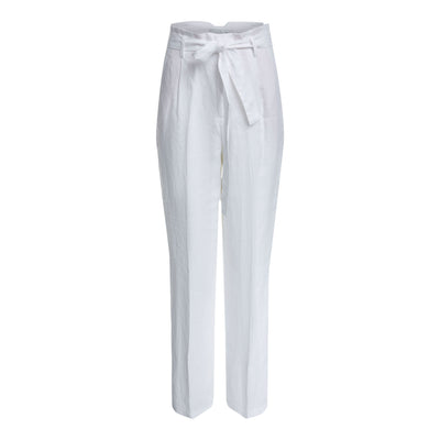 Oui - High Waisted Wide Leg Natural Linen Trouser  (2 colours)