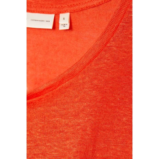 InWear - Faylinn Round Neck Short Sleeve Linen Tee Shirt