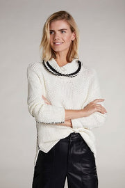 Oui - Cowl Neck Chunky Knit Jumper with Feature Stitching