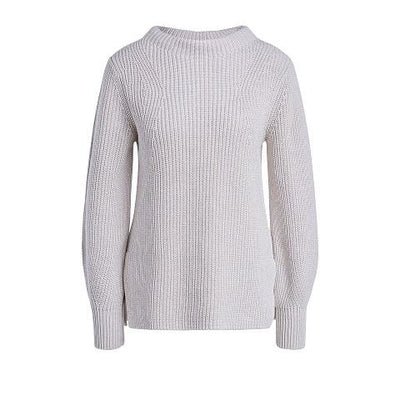 Oui - Crew Neck Chunky Knit Cotton Jumper