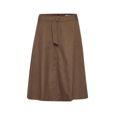 Part Two - Taissa A-line Shaped Skirt in Dark Camel