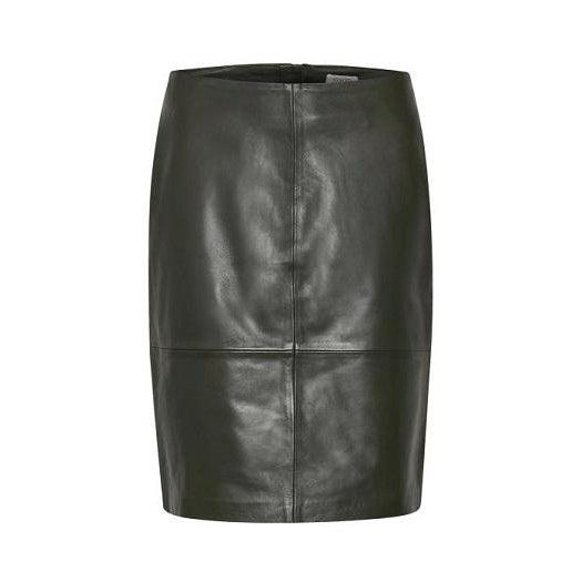 Soaked In Luxury - Soft Black Lambs Leather Skirt