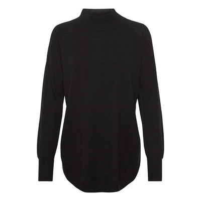 Part Two - Taura- Long Sleeve Crew Neck Black Wool Jumper